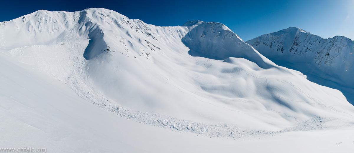 Goldpan cornice avalanche